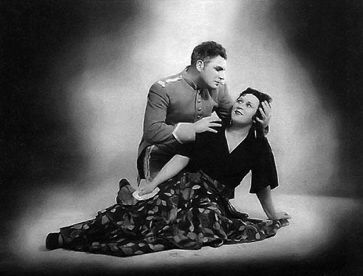 "...Гаврилкин - Хозе, Римма Баринова - Кармен (опера  ""Кармен "" Ж. Бизе..."